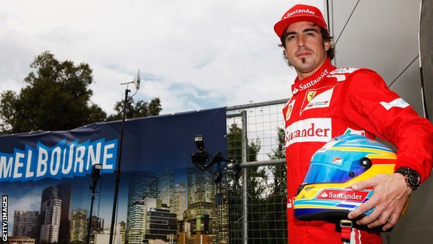 Fernando Alonso in Melbourne