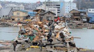 Ishinomaki, Japan, after the quake