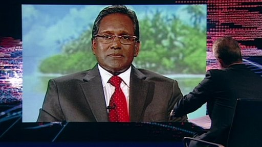 Mohamed Waheed and Stephen Sackur