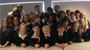 Uplands Community College pupils