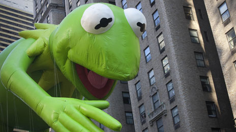 Kermit in the city