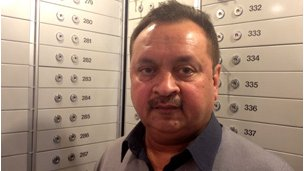 Vikram Naik in his vault