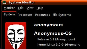 Screenshot from Anonymous OS
