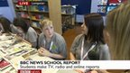 Students from Lampeter Comprehensive School on BBC News