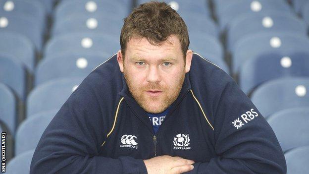 Scotland prop Allan Jacobsen
