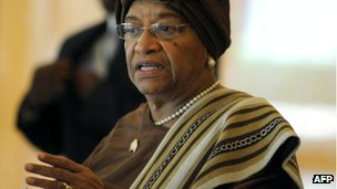 Liberian President Ellen Sirleaf Johnson photographed in February 2012