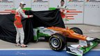 Nico Hulkenberg, Paul di Resta and the new Force India car