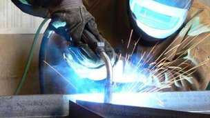 Generic worker welding metal