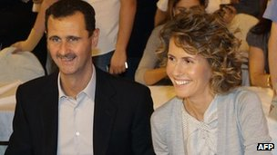 Syrian President Bashar al-Assad and Asma al-Assad in Damascus (5 Sept 2010)
