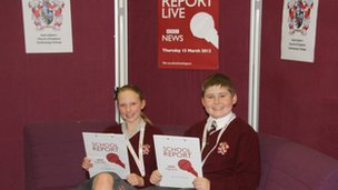 Budding reporters at Saint Aidan's Technology College