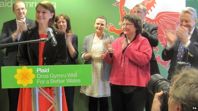 Leanne Wood being unveiled as the new leader of Plaid Cymru