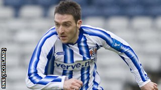 Kilmarnock striker Paul Heffernan