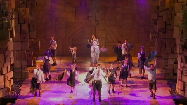 The cast of Matilda