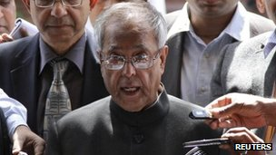 Indian Finance Minister Pranab Mukherjee