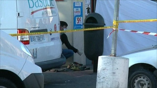 Forensic at scene of shootings in France