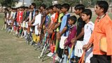 Young pakistani hockey players from MC High by Bhas Solanki