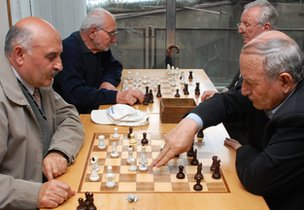 Chess players in Yerevan