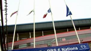 Flags at the Millennium Stadium