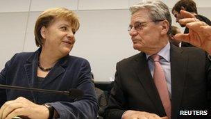 Angela Merkel and Joachim Gauck