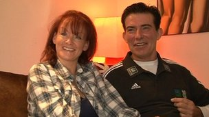 Eddie Kidd with his wife Sami
