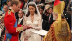 Dr Rowan Williams officiates at the wedding of the Duke and Duchess of Cambridge in 2011