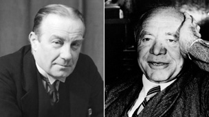 British Prime Minister Stanley Baldwin (right) and Lord Beaverbook (left)