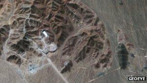 Suspected uranium enrichment plant near Qom, Iran