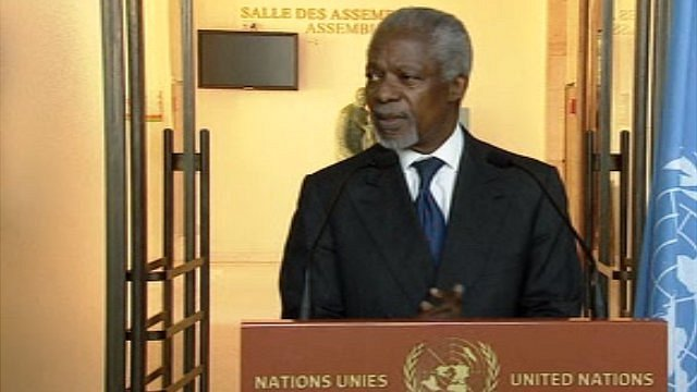 UN and Arab League envoy Kofi Annan