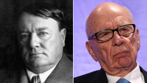 Lord Northcliffe and Rupert Murdoch