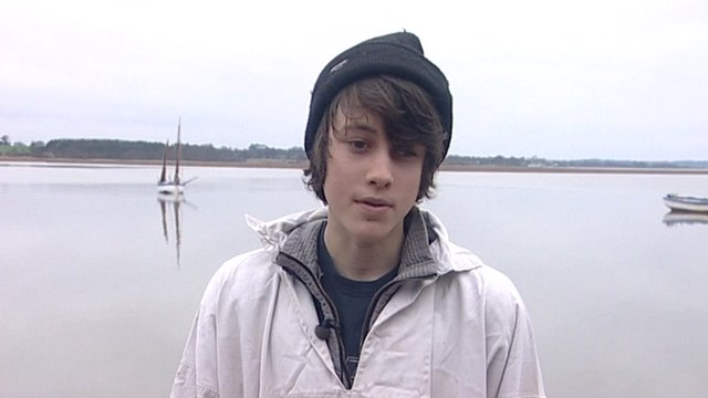 Young oyster farmer Harry Simper