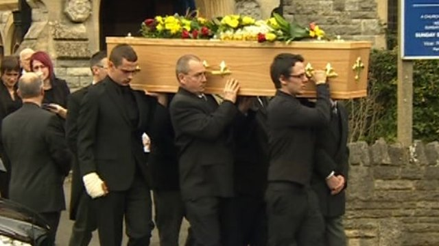 Kyle Rees funeral in Bournemouth