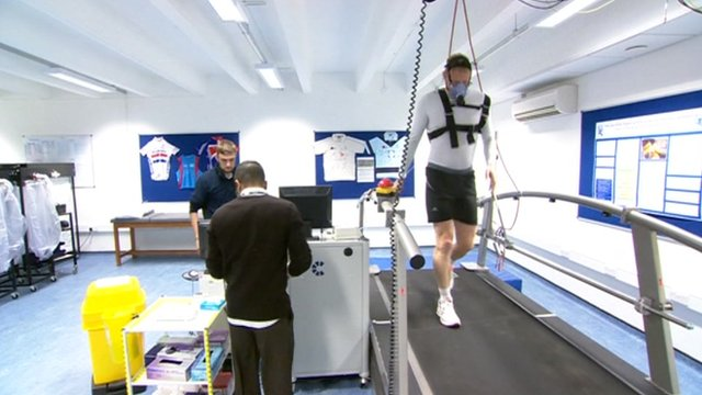 Rob Smith undergoing a fitness test