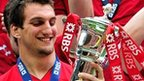Wales captain Sam Warburton with the Six Nations trophy
