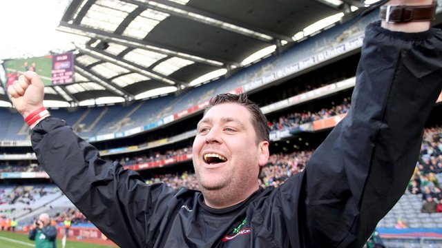 PJ O'Mullan shows his delight after the final whistle at Croke Park