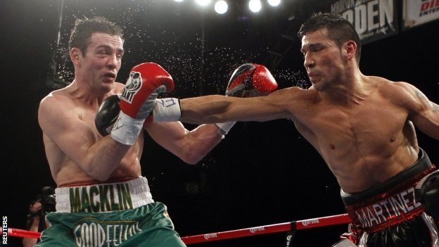 Matthew Macklin is punched by Sergio Martinez
