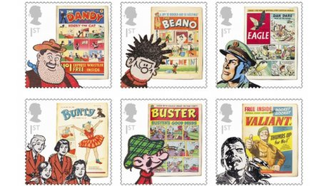 Comic book stamps