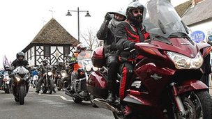 Bikers take part in the Ride of Respect through Wootton Bassett in 2012