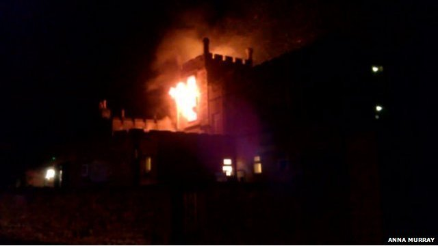 Fire at Ryde Castle Hotel, by Anna Murray