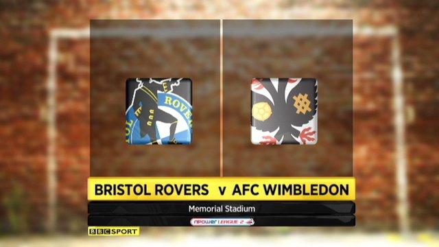 Bristol Rovers 1-0 Wimbledon