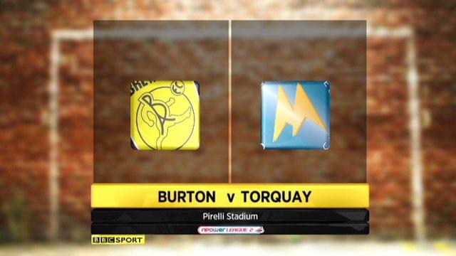 Burton 1-4 Torquay