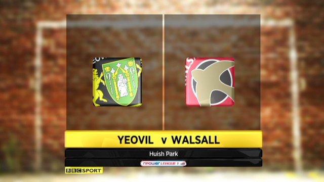 Yeovil 2-1 Walsall