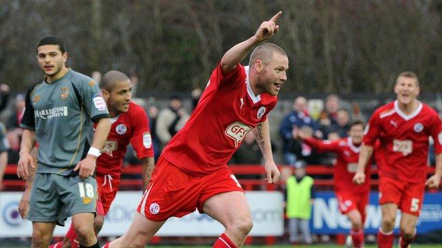 Gary Alexander scores for Crawley