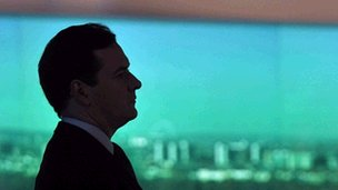 George Osborne in silhouette