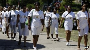 Ladies in White are campaigning for the release of all political prisoners