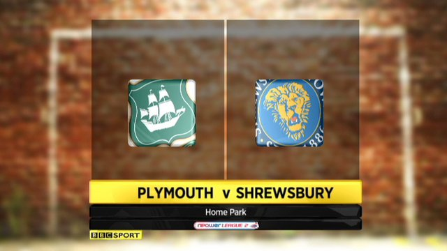 Plymouth 1-0 Shrewsbury