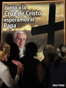 Poster for Pope's visit in Havana