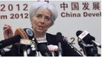 IMF Managing Director Lagarde speaks in Beijing