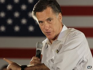 Mitt Romney in Collinsville, Illinois, on 17 March 2012
