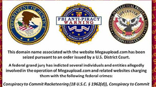 Screenshot from Megaupload.com