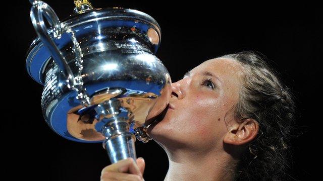 Australian Open champion Victoria Azarenka